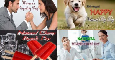 26th August - Women's Equality Day - National Dog Day - National Cherry Popsicle Day - National WebMistress Day