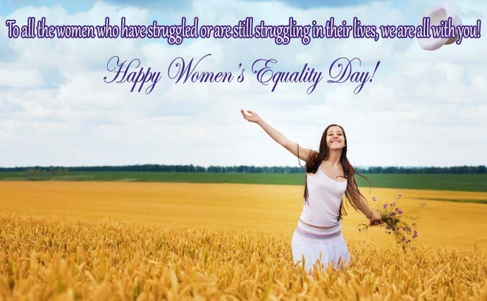 Happy Womens Equality Day 2021 Wishes, Messages, Greetings, Text & SMS in Image & Picture