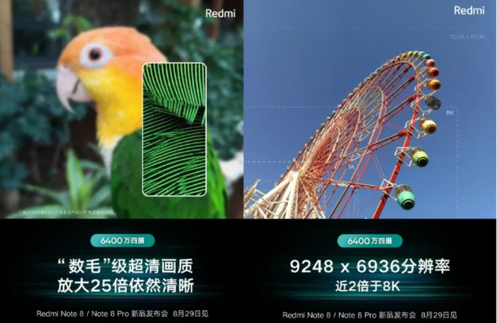 Xiaomi Redmi Note 8 Pro will be able to take 9248x6936 pixel photos
