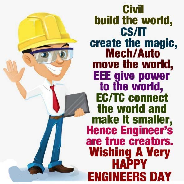Best Engineers Day 2019 Wishes Messages, Greetings, Text, SMS, Sayings & Status