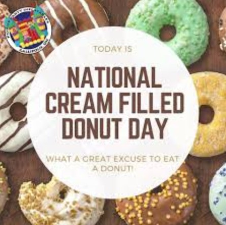 national cream filled donut day 2019